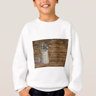 lavender flower rustic barn wood french country sweatshirt