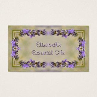 Lavender flowers border business card