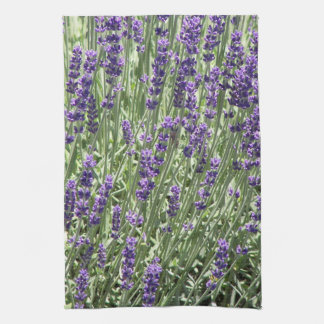 Lavender Flowers Floral Tea Towel