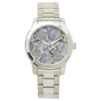 Lavender Flowers Hydrangea Face Watch