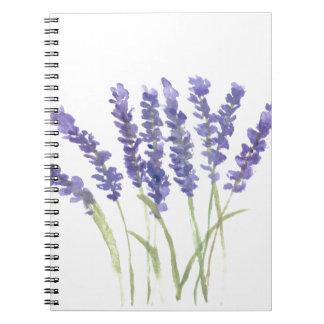 Lavender flowers notebook