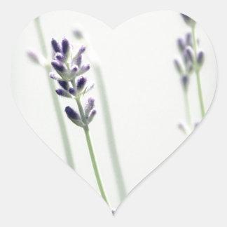 Lavender Flowers Heart Sticker