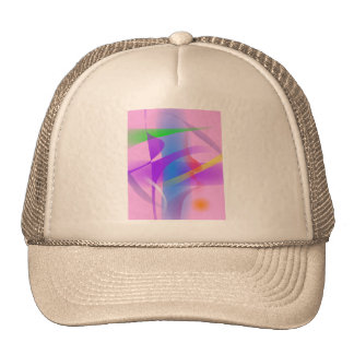 Lavender Free Forms Abstract Painting Trucker Hat