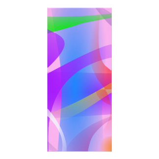 Lavender Free Forms Abstract Painting Full Color Rack Card
