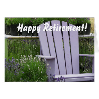 Lavender Garden Chair Photo Retirement Greeting Card