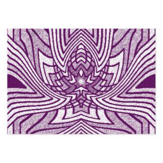 Lavender Geometric Lotus Business Card