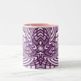 Lavender Geometric Lotus Coffee Mug