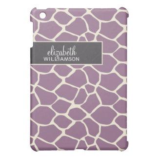 Lavender Giraffe Pern Case For The iPad Mini