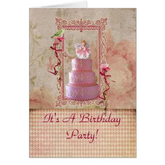 Lavender Girl Birthday Party Invitation