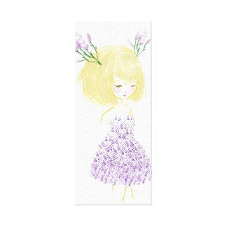 Lavender Girl Canvas Print