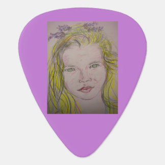 lavender girl guitar pick