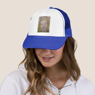 lavender girl trucker hat