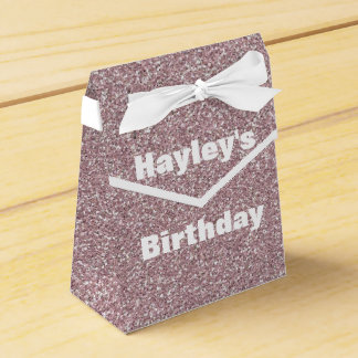 Lavender Glitter Printed Party Favor Box