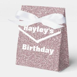 Lavender Glitter Printed Party Favor Box Party Favour Boxes