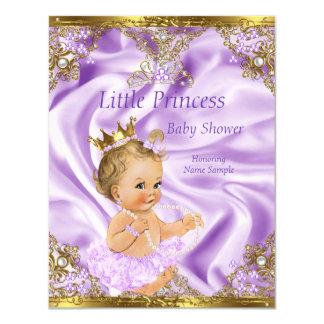 Lavender Gold Princess Baby Shower Blonde Girl 11 Cm X 14 Cm Invitation Card