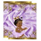 Lavender Gold Princess Baby Shower Ethnic Girl Invitation