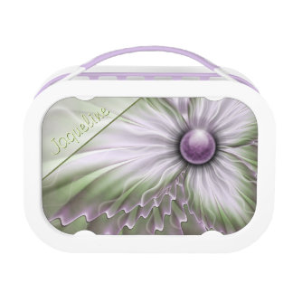 Lavender Green Floral Lunchbox