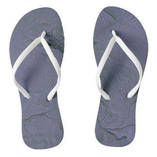 Lavender Green Textured Thongs