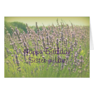 Lavender Happy Birthday Sister-in-Law Card