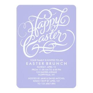 LAVENDER HAPPY EASTER | EASTER BRUNCH INVITATION