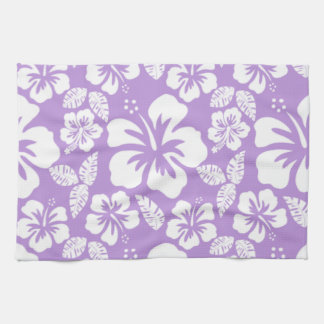 Lavender Hawaiian Tropical Hibiscus Tea Towel