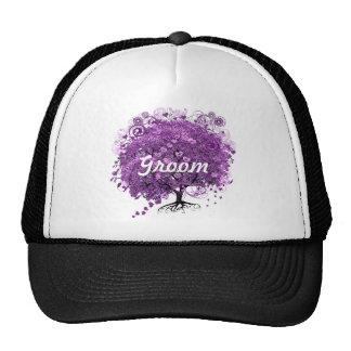 Lavender Heart Leaf Tree Wedding Cap
