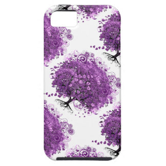 Lavender Heart Leaf Tree Wedding Case For The iPhone 5