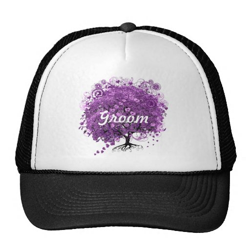 Lavender Heart Leaf Tree Wedding Mesh Hats