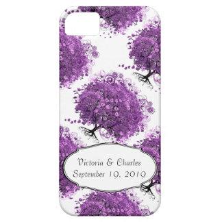 Lavender Heart Leaf Tree Wedding iPhone 5 Cases
