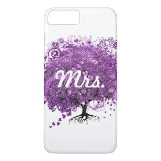 Lavender Heart Leaf Tree Wedding iPhone 7 Plus Case