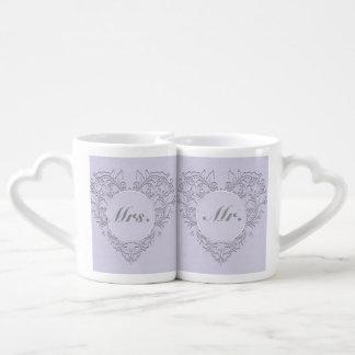 Lavender hearty Chic Coffee Mug Set