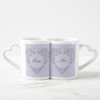 Lavender hearty Chic Couple Mugs