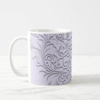 Lavender HeartyChic Basic White Mug