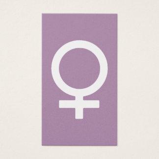 Lavender Herb Female Symbol Business Card