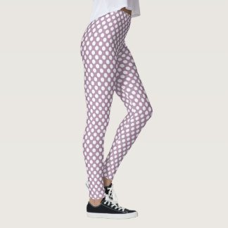 Lavender Herb Polka Dots Leggings