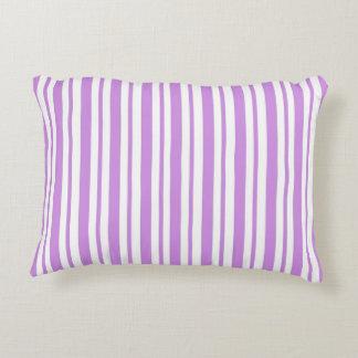Lavender Horizontal Pinstripe Decorative Cushion