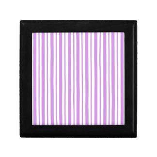 Lavender Horizontal Pinstripe Gift Box