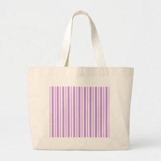 Lavender Horizontal Pinstripe Large Tote Bag