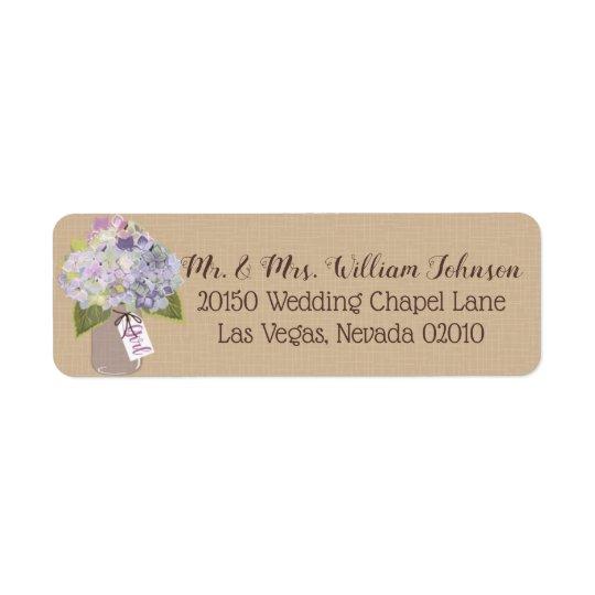 Lavender Hydrangea Bouquet Label
