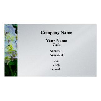 Lavender Hydrangea in Garden  - Platinum Finish Pack Of Standard Business Cards