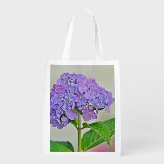 Lavender Hydrangea Reusable Bag