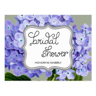 Lavender Hydrangeas Bridal Shower Advice Postcard