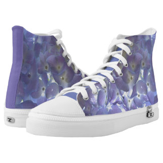 Lavender Hydrangeas Printed Shoes