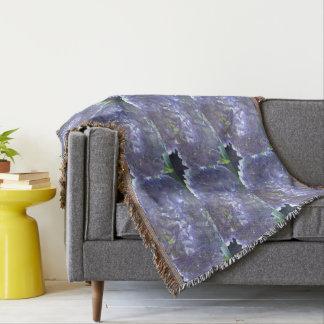 Lavender  Hydrangeas Throw Blanket