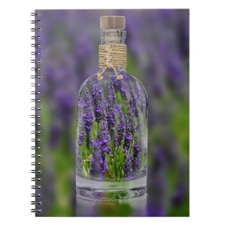 Lavender in a Bottle Spiral Note Book