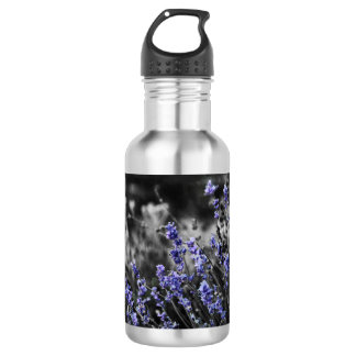 Lavender in Black and White 532 Ml Water Bottle