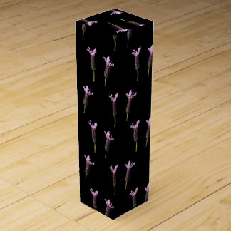 lavender in bloom in the garden wine gift boxes