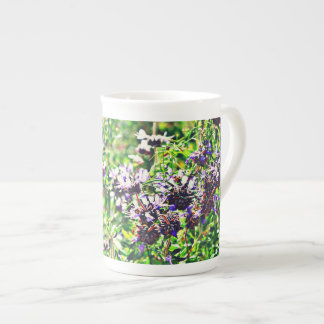 Lavender in Chrome Bone China Coffee Cup