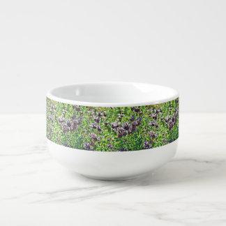 Lavender in Chrome Soup Mug