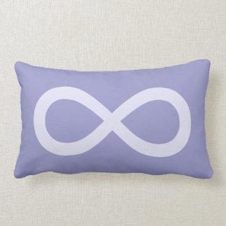 Lavender Infinity Symbol Lumbar Pillow